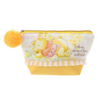 Winnie the Pooh & Piglet Pouch SPRING FOREST ❤ Disney Store Japan