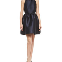 Women's sateen bow-back fit-and-flare dress - kate spade new york - Rich navy