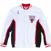 Mitchell & Ness Chicago Bulls 1992-93 Authentic Warm Up Jacket in White