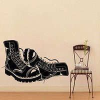 Vinyl Wall Decals Boots Shoes Decal Sticker Home Wall Decor Bedroom Art Mural Z732