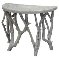 Oly Studio Vincent Half-round Table - Oly-vincenthalfround  | Candelabra, Inc.