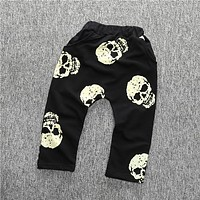 children clothing girls pants for boys ,kids clothes cartoon pants baby bloomers skull pant