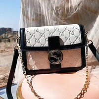 GUCCI Double G round buckle Dionysus bag chain bag shoulder bag crossbody bag
