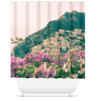 Amalfi Coast, Positano, Italy Polyester Shower Curtain