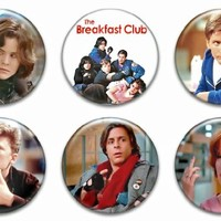 """Set of 6 New The Breakfast Club 1.25"""" Pinback Button Badge Pin"""