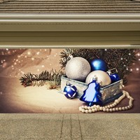 Christmas Garage Door Cover Banners 3d Holiday Outside Decorations Outdoor Decor for Garage Door G44