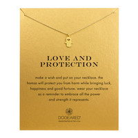 love and protection heart hamsa necklace, gold dipped - Dogeared