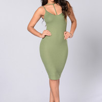 Sweet Surrender Dress - Sage