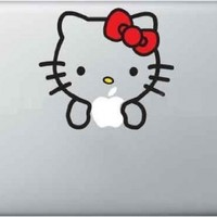 Hello Kitty Decal - Vinyl Macbook / Laptop Decal Sticker Graphic