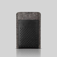 Retro iPhone 4 - 4S case, sleeve, wool and leather cover OSTFOLD