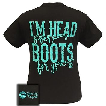 Sale Girlie Girl Originals Country I'm Head Over Boots For You T-Shirt