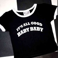 SWEET LORD O'MIGHTY! ITS ALL GOOD RINGER TEE IN BLACK