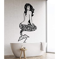 Vinyl Wall Decal Sexy Naked Mermaid Pin Up Sea Style Stickers Unique Gift (1612ig)