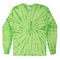 Lime Green Tie-Dye Long Sleeve Unisex Tee