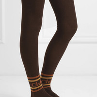 Chloé - Intarsia cotton-blend over-the-knee socks