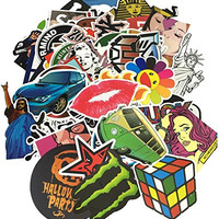 SKENOY (100 Pack) Random Stickers Car Bike Travel Suitcase Phone Decals Mix Lot Fashion Cool