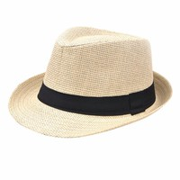 Men And Woman Summer Straw Cowboy Hat Folding Beach Hat Large Brimmed Hat, Sun Cap ,Bucket Hat