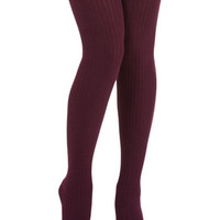 ModCloth Cover Your Basics Tights in Aubergine