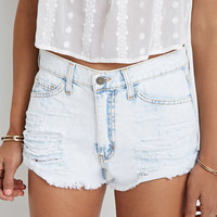 Destroyed Denim Cutoffs