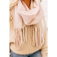 Wrapped In Warmth Fringe Scarf (Rose)