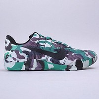 NIKE KOBE XI ELITE LOW Fashion New Hook Print Knit Camouflage Shoes
