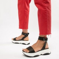 ASOS DESIGN Fencer chunky sporty flat sandals at asos.com