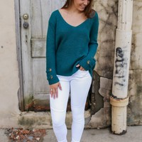 All Around Town Sweater - Teal