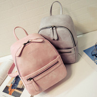 women backpack new arrived fashion casual PU ladies backpacks candy color Korea school style solid student mini backpack,LB1999