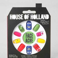 House Of Holland X Elegant Touch Face Ache Faux Nail Set- Assorted One