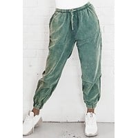 Truth Comes Around Pistachio Corduroy Joggers