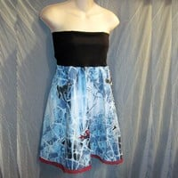 Spiderman Recycled Convertible Dress to Skirt
