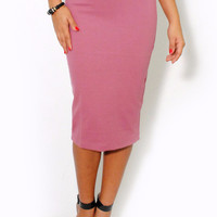 (alt) Knee length pencil blush skirt