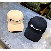 Champion street fashion men and women embroidery letter baseball cap