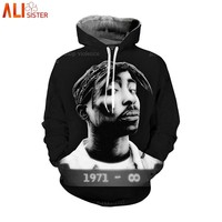 Alisister 2Pac Tupac Hoodies Sweatshirt Men Women Plus Size Hoodie Autumn Winter Hooded Tracksuit Pullover Sudadera Hombre