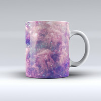 The Vibrant Sparkly Pink Nebula ink-Fuzed Ceramic Coffee Mug