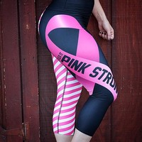 PINK STRONG Yoga Capri Leggings