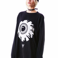 Black Eyeball Print Sweatshirt