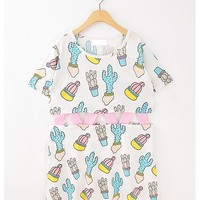 Cactus hollow out dress