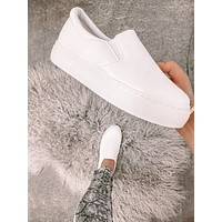 Day Trip White Slip On Sneakers