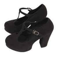 T-strap Block Heel Shoes