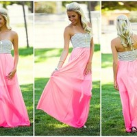 Spring Time Love Maxi Dress