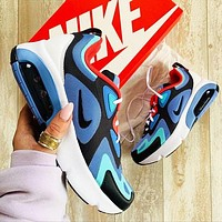 Nike Air Max 200 Fashionable Men Contrast Color Breathable Air Cushioned Running Sport Shoes Sneakers