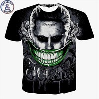 New Suicide squad mens 3d t shirt Harley Quinn Joker Rick Flag Men Shirts Hip Hop Funny Tops Short Sleeve Black Summer Tees