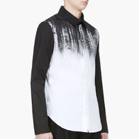 Denis Gagnon Black And White Hand Painted Shirt