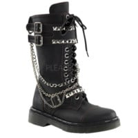 Stud and Chain Women's Combat Boots - FW2094 from Dark Knight Armoury