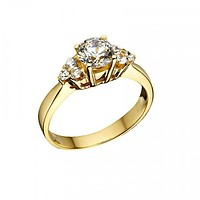 Solid 18K Yellow Gold Wedding Engagement Ring Anniversary Ring for Women Gift For Men