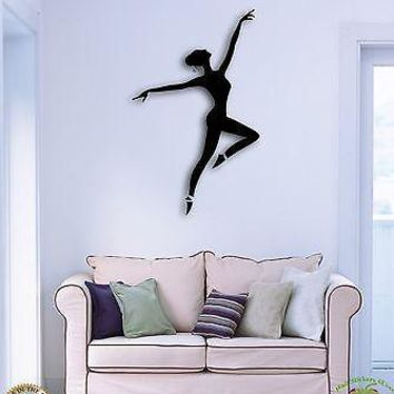 Vinyl Decal Wall Sticker Dance Ballet Dancing Ballerina for Dance Studio Unique Gift (z1352)