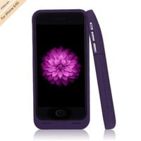 Ultra-Slim Battery Backup Power Charger Charging Case  for Iphone 7 6 6s Purple