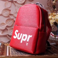 LV SUPREME NEW STYLE LEATHER BACKPACK BAG