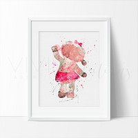 Lambie, Doc McStuffins Watercolor Art Print